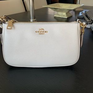 Coach Top Handle Pouch in Leather
